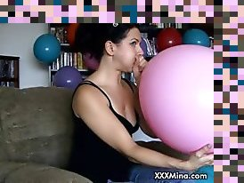 blow balloon and fuck